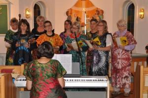 Kyrkokören sjunger afrikanskt